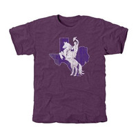 Tarleton State Texans Distressed Primary Tri-Blend T-Shirt - Purple