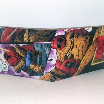 Comic Book Wallet// Red Hulk vs Thing