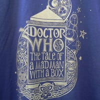 Dr Who TShirt Hand Printed by UnicornEmpirePrints on Etsy