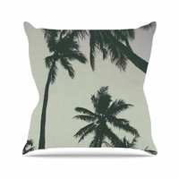 "Mary Carol Fitzgerald ""Rise Of Palms"" Purple Photography Throw Pillow"