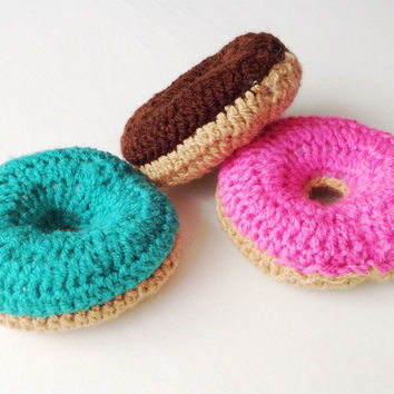 Handmade crochet doughnuts, donuts childrens toy food