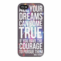 Walt Disney Quote Galaxy iPhone 5s Case