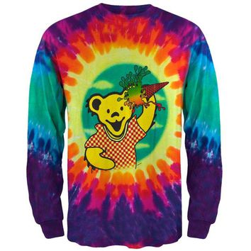 DCCKU3R Grateful Dead - Ice Cream Bear Tie Dye Long Sleeve T-Shirt