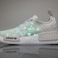 Sale Louis Vuitton LV x Adidas Consortium NMD White Luminous BA7245 Boost Sport Running Shoes Casual Shoes Sneakers