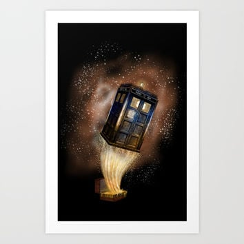 Fantastic tardis doctor who mashup with fantastic Bag iPhone, ipod, ipad, pillow case and tshirt Art Print by Three Second