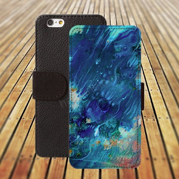 iphone 5 5s case watercolor storm iphone 4/ 4s iPhone 6 6 Plus iphone 5C Wallet Case , iPhone 5 Case, Cover, Cases colorful pattern L069
