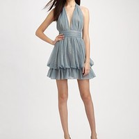 Mark + James by Badgley Mischka - Halter Bubble Mini Dress - Saks.com