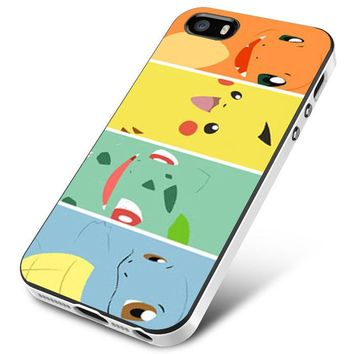 Bulbasaur Squirtle And Charmander Pikachu iPhone 5   5S   5SE Case Planetscase.com