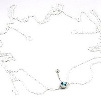 Body Accentz™ Belly Button Ring Navel Body Jewelry Dangle Waist Chain 14 Gauge