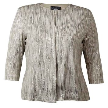 Alex Evenings Women's 2PC Glitter Stripe Blouse Set