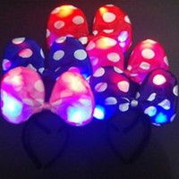 LED LIGHT UP DISNEY MICKEY MINNIE MOUSE EARS HEADBAND PARTY FAVORS COSTUME