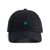 FOUR LEAF CLOVER - Embroidered Dad Hat Black ( Presale )