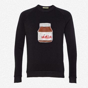 Nutella fleece crewneck sweatshirt