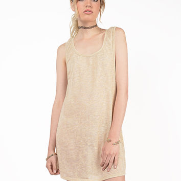 Knit Scoop Back Dress