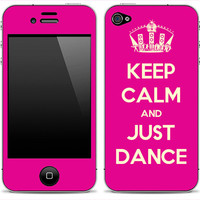 Keep Calm And Just Dance iPhone 4/4s Skin FREE SHIPPING