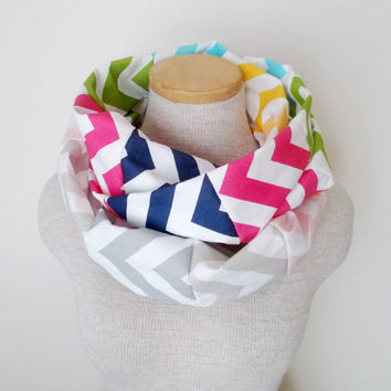 Chevron Infinity Scarf  Patchwork by MegansMenagerie on Etsy