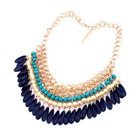 Bold Statement Necklace- Turquoise