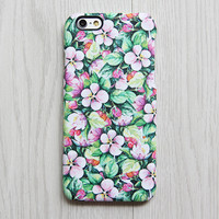 Green Pink Floral iPhone 6s case iPhone 6 plus Case Ethnic iPhone 5S 5 iPhone 5C iPhone 4S Case Samsung Galaxy S6 edge S6 S5 S4 S3 Case 073