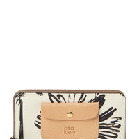 Orla Kiely Women's Sunflower Zip Around Wallet - Blue
