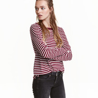 H&M Long-sleeved Jersey Top $12.99