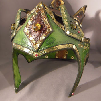 Leather Elven crown - RESERVED for Hubert -