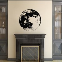 Housewares Vinyl Decal Moon Planet Space Home Wall Art Decor Removable Stylish Sticker Mural Unique Design for Room