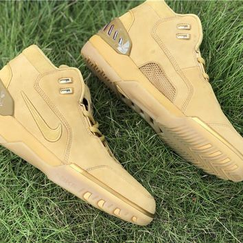 [Free Shipping Nike Lebron Air Zoom Generation ASG QS   AQ0110-700 Wheat  Running Sneaker