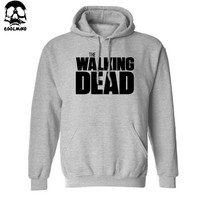 Men's The Walking Dead Thick Cotton Fleece Casual Loose Hooded Sweatshirt