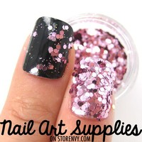 nailartsupplies | Purple Pink - Light Pink Raw Nail Glitter Mix 3.5 Grams | Online Store Powered by Storenvy