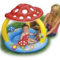 "Intex Mushroom Inflatable Baby Pool, 40"" X 35"", for Ages 1-3"