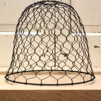 Primitive Chicken Wire Light Shade perfect for rustic decor