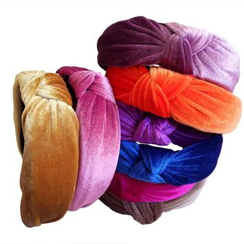 Vintage velvet  Knot Ladies Headbands For Women Head Wrap