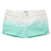 Colored Gradient Denim Shorty Shorts -