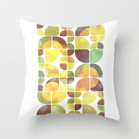 Sunny day pattern Throw Pillow by VessDSign