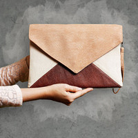 "Clutch bag ""Letter Medium Tricolor"""