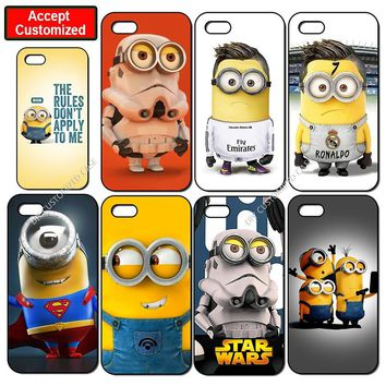 Funny Minion Case for iPhone 5 5S SE 6 6S 7 8 Plus X XS Max XR Shell Cover for Samsung Galaxy Note 8 9 S6 S7 S8 S9 Edge Plus