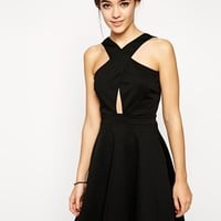 Oh My Love Cross Front Dress in Scuba