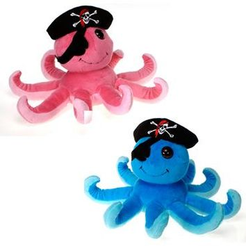 "7"" H 2 Asst. Color Pirate Octopus - Pink - CASE OF 24"