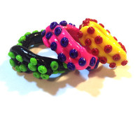 CUSTOM Colorful Tentacle Ring