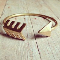 Matte Gold Arrow Bracelet from GypsyRoom