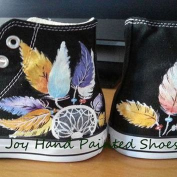 ONETOW dreamcatcher sneakers dream catcher converse hand painted shoes