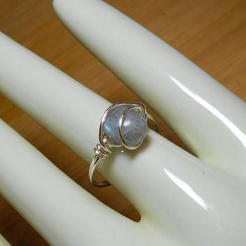 Stone ring, Labradorite wire wrap, silver gemstone ring, Labradorite ring,wire jewelry,wire wrapped ring, bohemian,custom ring,healing stone