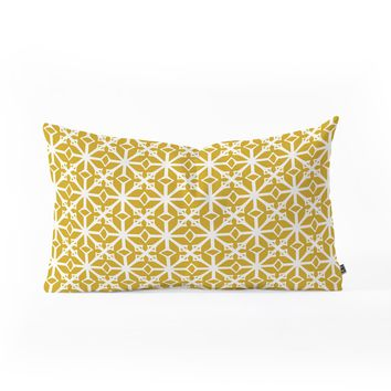 Heather Dutton Diamante Gold Oblong Throw Pillow