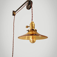 Vintage Industrial Pulley Light - Petit