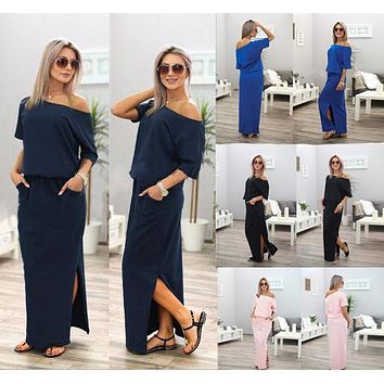 Summer Dress Short Sleeve Maxi  Dress Party Dresses Elegance