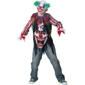 Big Top Terror Child Costume, Evil Clown