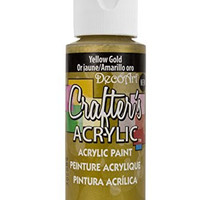DecoArt Crafter's Acrylic Paint, 2-Ounce, Yellow Gold