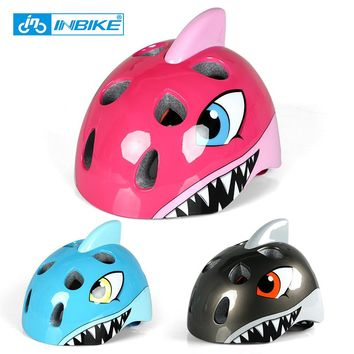 INBIKE Children's Helmets High Density EPS Cartoon Skating Child Boys Girls Cycling Riding Kids Motorcycle Bicycle Helmets CH-2