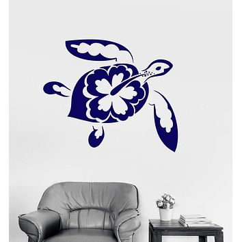 Vinyl Wall Decal Turtle Patterns Marine Animals Bathroom Decor Stickers Unique Gift (ig3192)