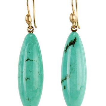 Ted Muehling Turquoise Long Drop Berry Earrings